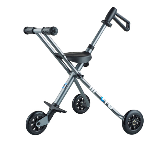 【爆款】瑞士m-cro迈古散步车trike遛娃神器儿童手推车轻便可折叠可带上飞机 灰色