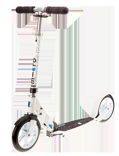 瑞士m-cro迈古黑白成人代步二轮滑板车可折叠 SA0031