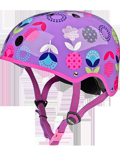 瑞士米高滑板车专用儿童头盔 紫色花款