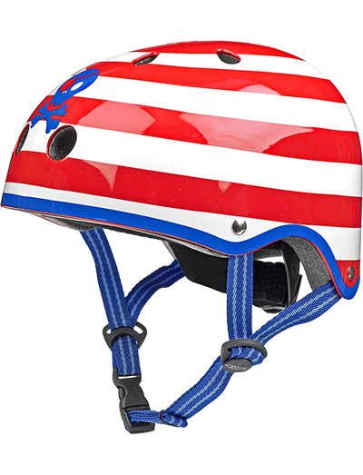 瑞士米高滑板车专用儿童头盔骷髅头款