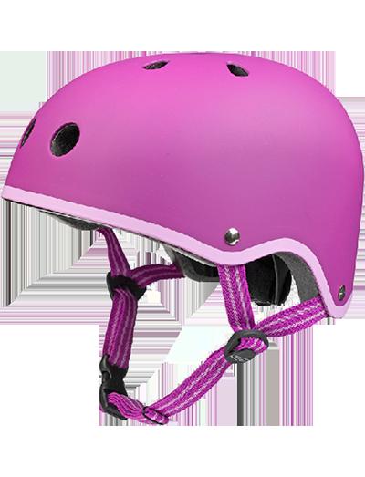 瑞士米高滑板车专用儿童头盔玫红色款