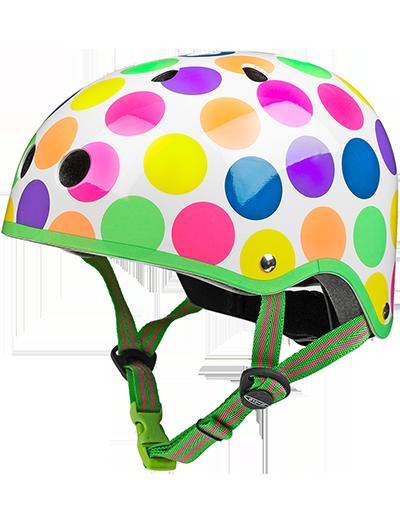瑞士米高滑板车专用儿童头盔波点款