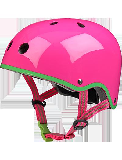 瑞士米高滑板车专用儿童头盔荧光粉
